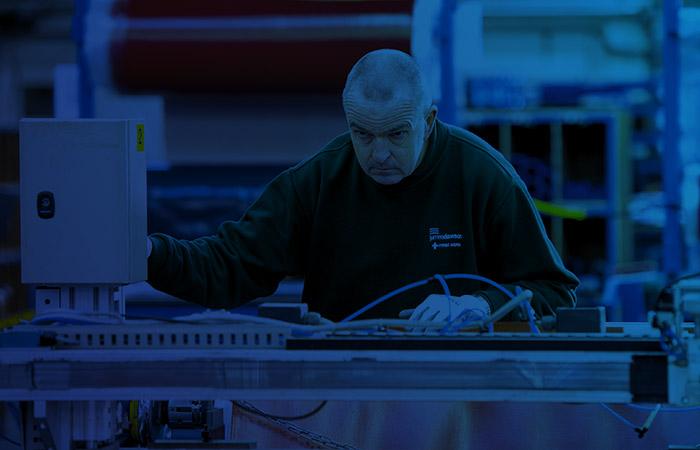 Worker in James Dawson Workshop